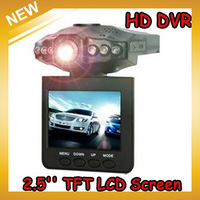 Car Dvr Camera Recorder With 6 IR LED And 90 Degree View Angle ,270 Degree Screen Rotated Drop Shipping,Free Shipping