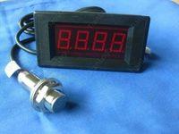Hall Proximity Switch Sensor NPN+ 4 Digital LED Tachometer RPM Speed Meter