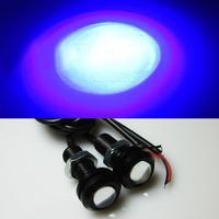 6 pieces/lot  Dark Blue 12V 3W LED DRL Ultrathin Stealth Eagle Eye Light  Waterproof  Daytime Running Lights