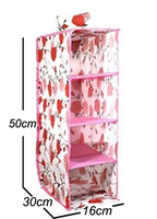 Rose Four Layer Storage Hanging Bag Non-Woven Storage Box Clothes Chalk Bag Buggy Bag