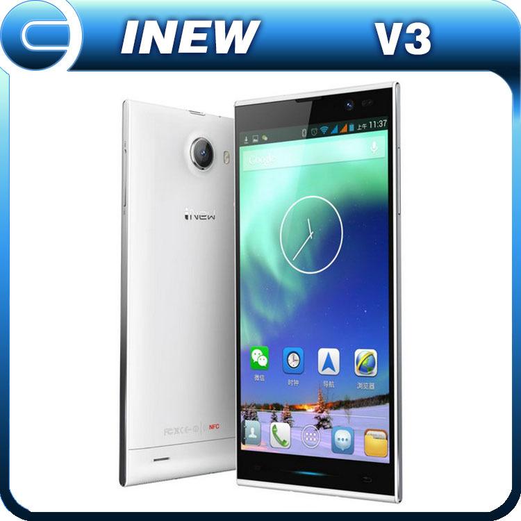 Original Inew V3 MTK6582 Quad Core Mobile Phone 5.0'' IPS Screen 1G RAM 16G ROM Android 4.2 13MP Camera NFC OTG 6.5mm In Stock(China (Mainland))