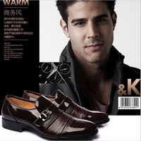 New 2013 men's flats Business fashion genuine leather shoes wedding shoes 38-44