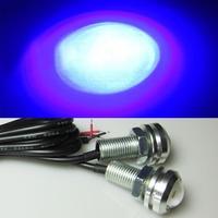 1 pair  Dark Blue 12V 3W LED DRL Ultrathin Stealth Eagle Eye Light  Waterproof  Daytime Running Lights