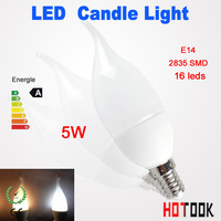 2835 5W E14 Candle Light High Power Crystal LED Spot lights Bulb lamp with 16leds 2835smd warranty 2 years CE ROHS x 10pcs