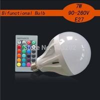 7watts RGB color led light bulbs wholesale