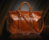 freeshipping 100% genuine leather bags 2014 new women handbags  Retro oil wax leather bag  Motorcycle bag  Shoulder diagonal bag