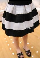 Free shipping New girls in black and white striped spring new luxury tutu skirt ZT64 TZ02C26