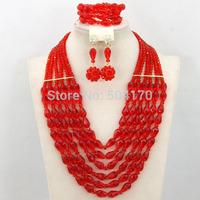 2014 Fashion Royal Blue African Nigerian Jewelry Set Luxury Rhinestone Flower Crystal Beads Jewelry Set Free Shipping GS031