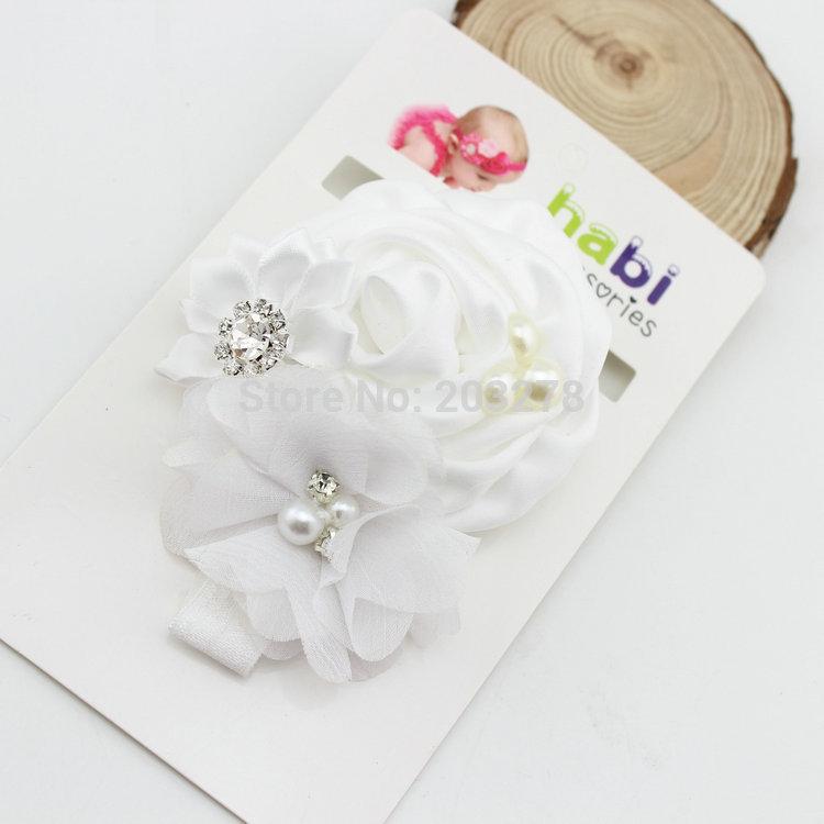 новейшие белая роза цветок оголовье с