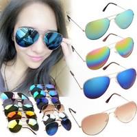 Fashion Vintage Eyeglasses Women & Men Colorful Mirror Lenses Metal Frame Sunglasses 80s Retro HOT Selling