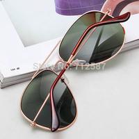Hot Classic Aviator Women's Men's Metal Sunglasses Gold Brown #5625