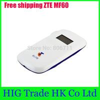 Free shipping unlocked original ZTE MF60 3G Router Pocket WiFi wireless Router mobile hotspot HSDPA 21.6Mbps