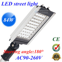 84W led street light led road light AC85V-265V IP65 84w led street lamp,Pole diameter 60mm  Steering angle: 180 degree