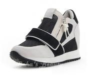 Classic velcro Design Slim Lady Height Increasing Fitness Shoes Ventilate Air Mesh Upper Women Platform Sneakers