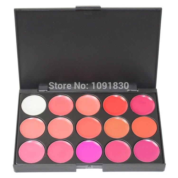 2014 New Pro Mini 15 Color Cosmetic Lip Lipsticks Gloss Makeup Palette Set kit Free Shipping(China (Mainland))
