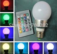 Hot Sales e14 rgb led bulb 3watt E14 RGB LED Lighting 110v 220v