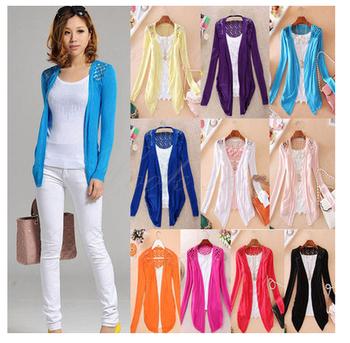 Spring Стиль 2014 summer autumn jackets girl Женщины's Outerwear Кружево Candy ...