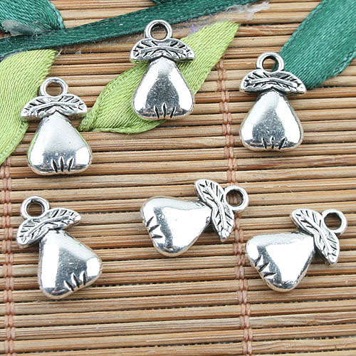 Tibetan Silver color 2sided fruit design charms 40pcs EF0060(China (Mainland))