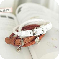 Ob0128 strap type fashion bracelet star accessories prepared to spend leather buckle on bracelet 10g