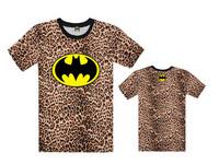 Men's clothing Batman T-Shirts street loose hiphop print short-sleeve t-shirt 100% cotton high quality Free Shipping
