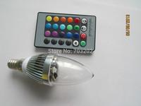 rgb candle bulb color changing led 3w led candle bulb light RGB