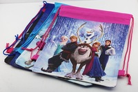 Free Shipping 12pcs/lot New Arrival 4 styles frozen drawstring bags two-sided bags Frozen Anna Elsa Children's backpack