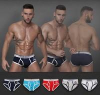 Men Underwear 4 pcs/lot new 2014 Cotton Sexy Men's briefsr Shorts Breathable Underpants  Mix Color and Size