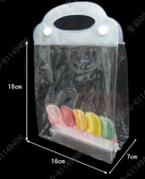 clear pvc plastic bag  30gram per piece  16CM*7cm width *18cm height packing pvc cosmetic bag