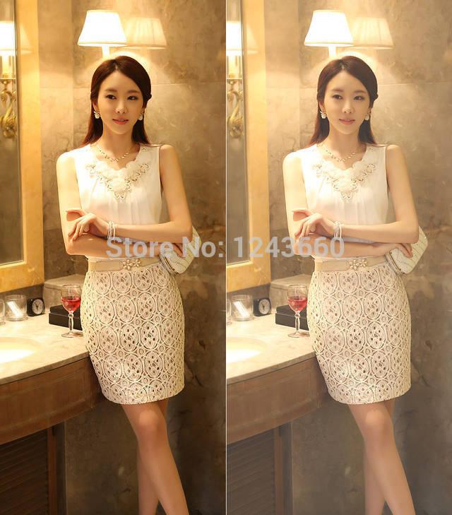 2014 New Fashion Sleeveless Vest Unlined Upper Garment Fold Render Chiffon Unlined Upper Garment(China (Mainland))