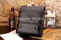 Promotion gift! 2014 Genuine Leather High Quality Fashion Men Shoulder Bag Business Bags Messenger Bag Cheapest!