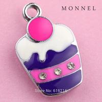A40b  Fashion hot Style Wholesale 5 pcs Purple Cupcake DIY Charm For earring jewelry making