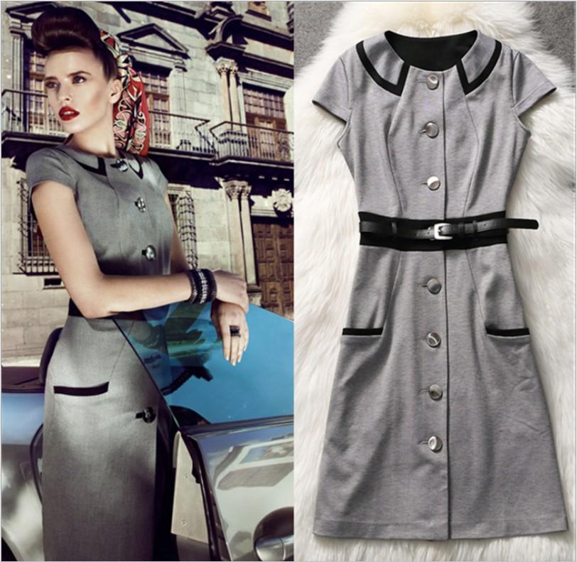 2014 womens vintage 1950s 60s high skater dress