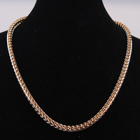 """Byzantine mens necklace 18k  gold filled Column  link chain necklace 20"""" 5mm 58g fashion jewelry"""