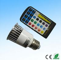 change color 5w RGB bulb RGB bulb 5w RGB spotlight with remote control