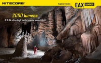 Free shipping Nitecore EAX Two CREE XM-L2 LED 2000 lumens Hunting Torch Flashlight  8 X AA High-capacity battery