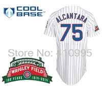 Baseball Chicago 75 Arismendy Alcantara Authentic Home Cool Base Jersey w/Wrigley Field 100th Anniversary Patch Free Shipping