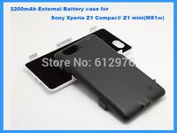 3200mAh Backup Power External Battery case for Sony Xperia Z1 Compact/ Z1 mini(M51w) Free shipping + drop shipping