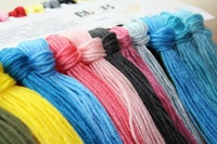 Free Shipping Top Grade 50PCS/lot Similar DMC Cross Stitch Floss Thread any colors