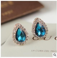 New fashion high-grade crystal droplets stud earrings