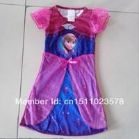 Wholesale Frozen Dress Frozen Anna Red Dress Short-Sleeve Long Dress for 2-6age Kids USD4.7/pcs Frozen Costumes