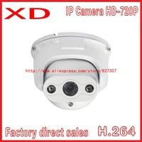 Free shipping 1Mp Network CCTV camera 4LED outdoor Water-proof IR Mini Bullet P2P Camera 720P IP CAMERA