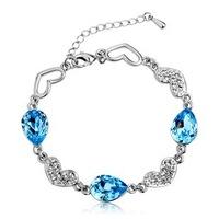 925 sterling silver bracelet female fashion jewelry Austrian female Ocean Crystal bracelets & bangles Free Shipping