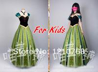 Frozen Cosplay Dress Frozen Princess Anna Dress Frozen Party Dress for Kids