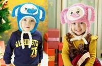 Super cute elephant cartoon style children hat ear protection cap a generation of fat children