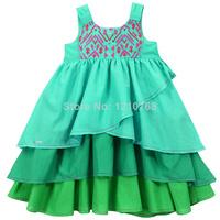 Girl Beach Dress New Stock Dropship Girls Dress vestidos de menina mini Kids Dress Layered Tank Summer Dress for 3-8ages Kids