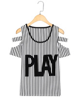 2014 spring and summer HARAJUKU slim letter print top short-sleeve round neck T-shirt female 1299l