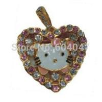 Free Shipping 4GB 8GB 16GB 32GB Crystal Cute Heart-Shaped USB Flash Drive CXCE1226