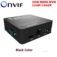 720P 1080P 4CH ONVIF NVR 15 Multiple-languages 3G WIFI Audio Input Network Video Recorder  MINI NVR for IP Camera Free shipping