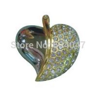 Free Shipping 4GB 8GB 16GB 32GB Crystal Cute Heart-Shaped USB Flash Drive CXCE1229