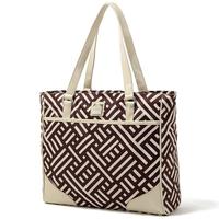 British brand geometric pu canvas women shoudlder bag fashion totes handbag